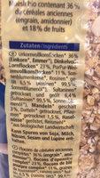 Muesli aux grains anciens - Ingredientes - fr