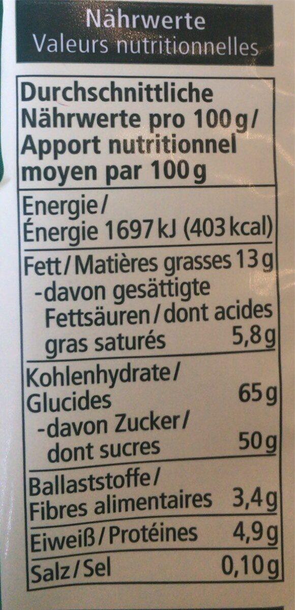Dominosteine - Valori nutrizionali - de