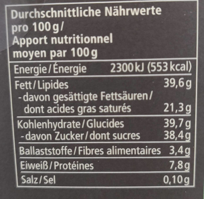 PRALINEN VARIATIONEN - Informations nutritionnelles - de