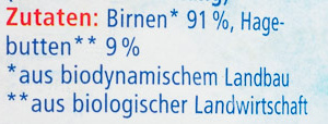 Birne-Hagebutte - Ingredients