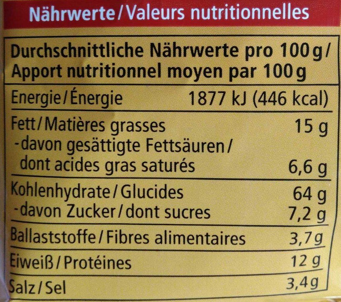 Knabber Drachen Paprika - Informazioni nutrizionali - de