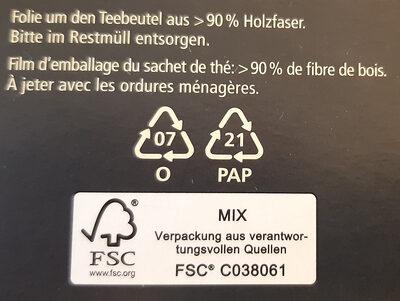 Earl Grey - Wiederverwertungsanweisungen und/oder Verpackungsinformationen - fr