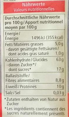 Bouillie de petit-déjeuner - Nutrition facts - de