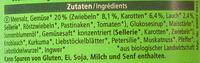 Gemüse Bouillon - Ingredients - de