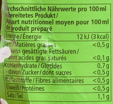 Gemüse Bouillon - Voedigswaarden