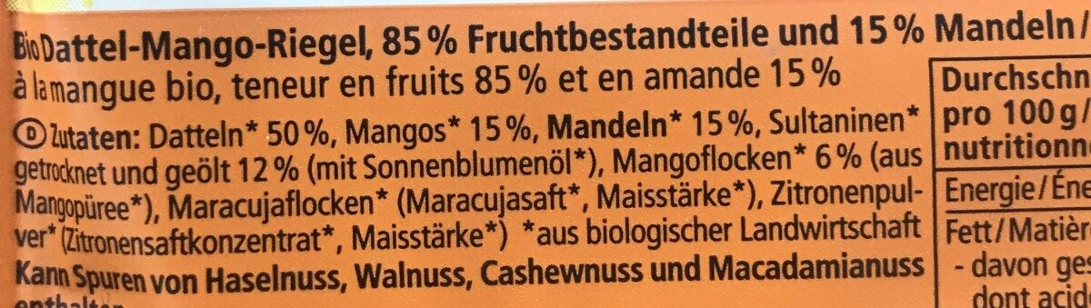 Mango Dattel - Ingrédients