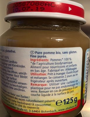 Pure pomme douce - Ingredients - fr