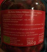 Haricots Rouges - Alnatura - 360 G - Ingrédients