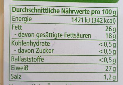 Gouda Alpenmilch - Voedingswaarden - de