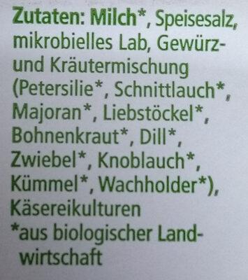 Alpen-Kräuterkäse - Ingrediënten