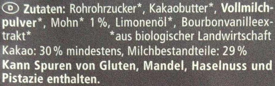 Limone Mohn - Ingredienti - de