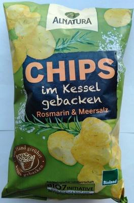 Chips im Kessel gebacken Rosmarin & Meersalz - Produit - de