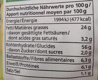 Chips romarin & sel de mer - Valori nutrizionali - de