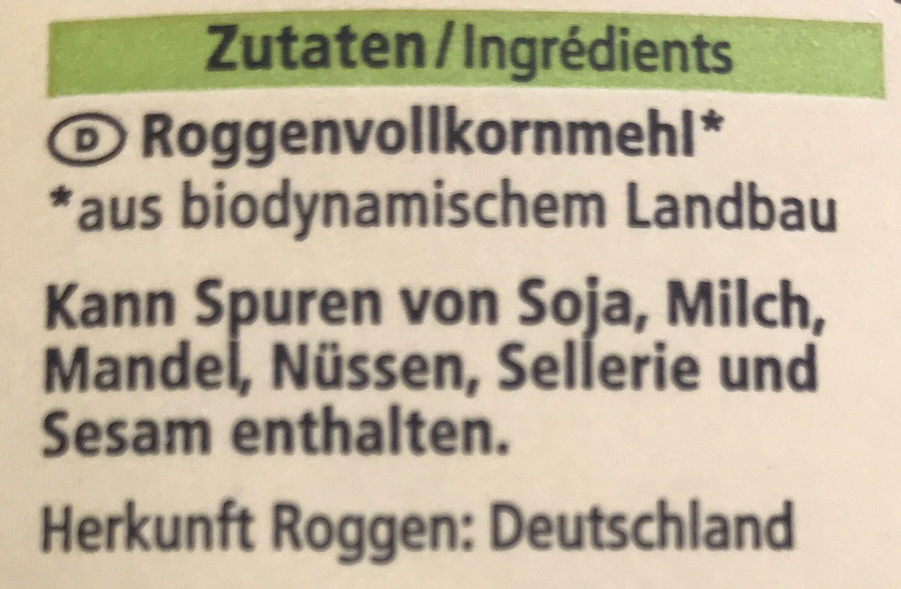 Roggen Vollkorn Mehl - Ingredients