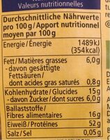 Soja Schnetzel Grob - Nutrition facts - de