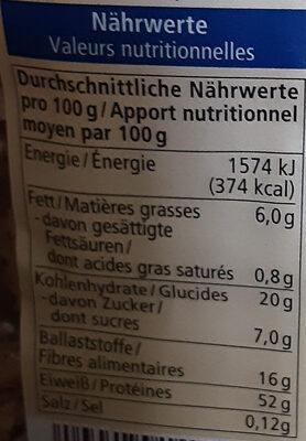 Soja Schnetzel Grob - Informations nutritionnelles - fr