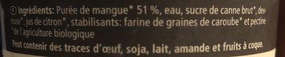 Sorbet mangue - Ingredients - fr