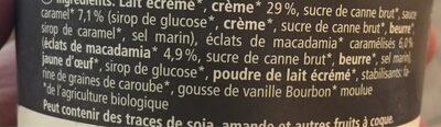 Macadamia caramel - Inhaltsstoffe