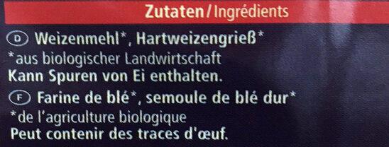 Nouilles Mie - Ingredients
