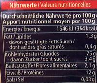 Nouilles Mie - Nutrition facts