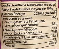 Chips cuites à la marmite Piment Mangue - Informations nutritionnelles