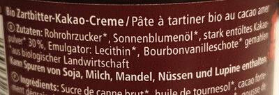 Zartbitter Kakao-Creme - Ingredients