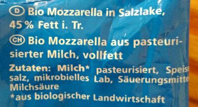 Mozarella - Zutaten - de