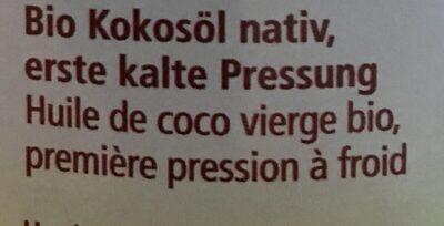 Alnatura Kokosöl - Ingrediënten - fr