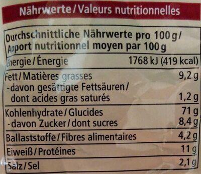Rote Bete Cracker - Informations nutritionnelles - de
