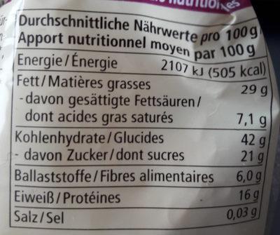 Petits gâteaux croustillants - Nutrition facts - de