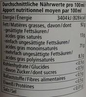 Natives Olivenöl extra - Nutrition facts
