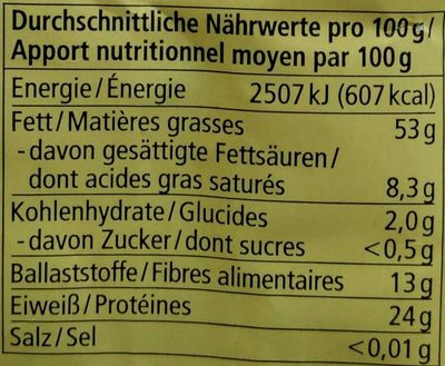 Sésame non décortiqué - Valori nutrizionali - fr