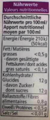 Smoothie - Nutrition facts - fr