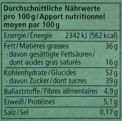 Flakes & Haselnuss - Informazioni nutrizionali - de