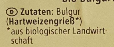 Boulgour - Ingredients