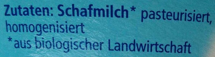 Schafquark Natur - Ingrediënten - de