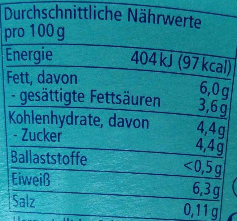 Schafquark Natur - Voedingswaarden - de