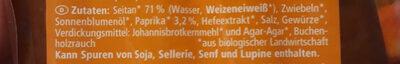 Vegan Rote Bratwurst aus seitan - Ingredienti - de