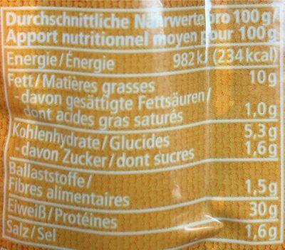 Vegan Rote Bratwurst aus seitan - Valori nutrizionali - de