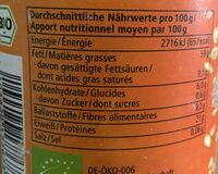 Tahin-Sesammus - Nutrition facts - fr
