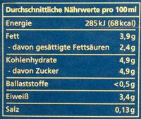 frische Vollmilch - Nutrition facts