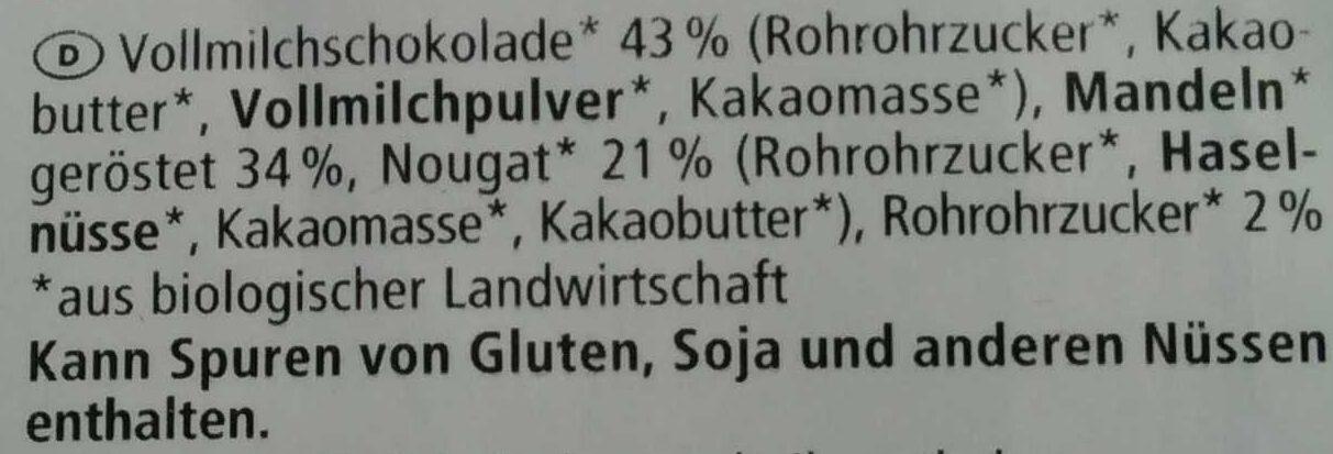 Nougat Mandeln - Ingredienti - de