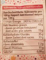Nougat Mandeln - Valori nutrizionali - de