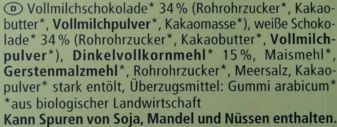 Dinkel Schoko Eier - Ingredients - de