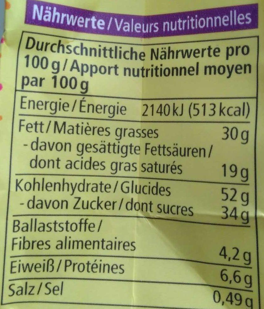 Dinkel Schoko Eier - Nutrition facts - de