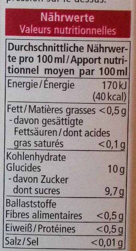 Milder Apfel - Nutrition facts