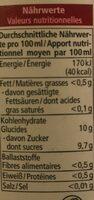 Milder Apfel jus de pomme doux - Voedingswaarden - de