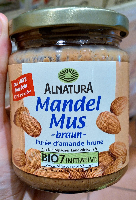 Mandel Mus Purée d'Amande Brune - Produit - fr
