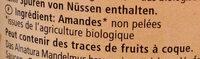 Mandel Mus Purée d'Amande Brune - Ingrédients - fr