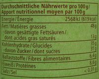 Haselnuss-Nougat - Nutrition facts